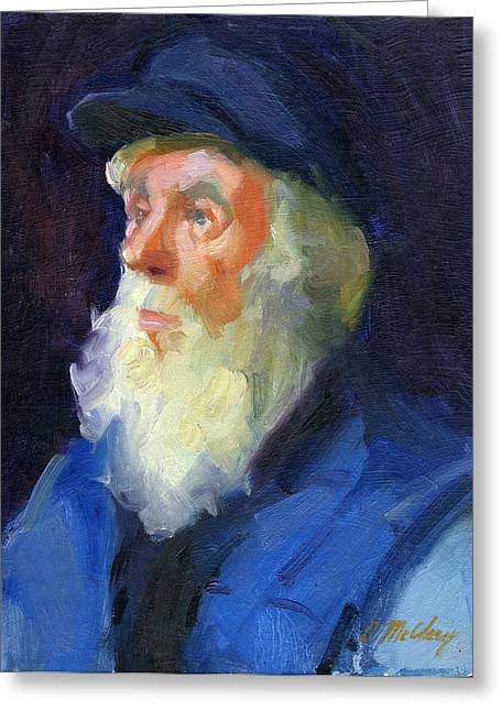 Seaman Greeting Cards - Sea Captain 2 Greeting Card by Diane McClary