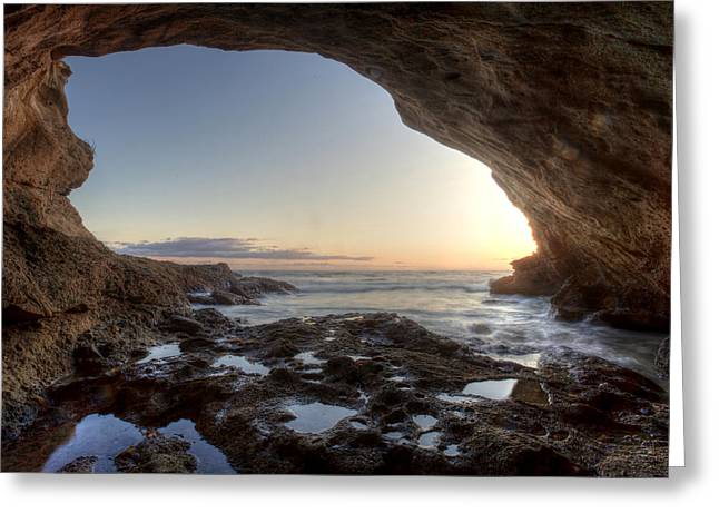 Cavern Greeting Cards - Sea Cave at Thousand Steps Beach Greeting Card by Cliff Wassmann
