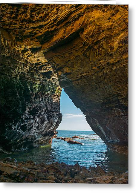 Tidal Greeting Cards - Sea Cave Window Greeting Card by Joseph Smith