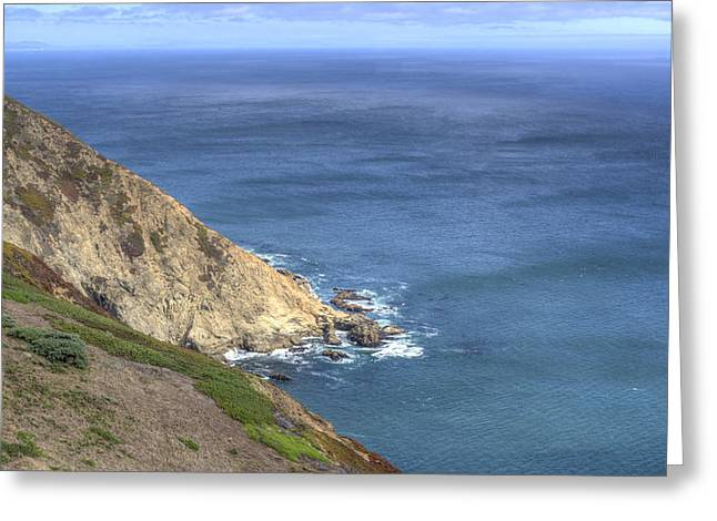 Pacfic Ocean Greeting Cards - Sea Cliffs Greeting Card by Agrofilms Photography