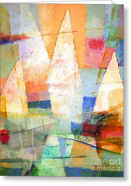 Abstract Seascape Mixed Media Greeting Cards - Sea Colors Greeting Card by Lutz Baar