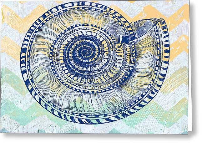 Sea Shell Digital Art Greeting Cards - Sea Shell-A Greeting Card by Jean Plout