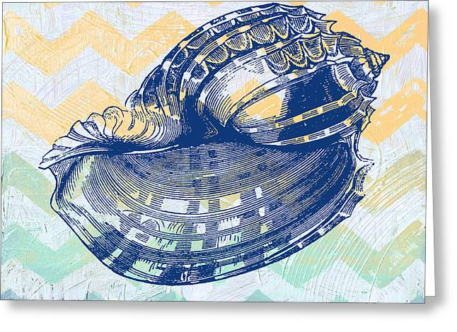 Sea Shell Digital Art Greeting Cards - Sea Shell-C Greeting Card by Jean Plout