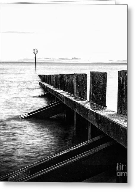 Scotland Landscapes Greeting Cards - Sea defences Portobello Greeting Card by John Farnan