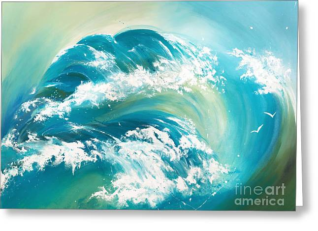 Flying Seagull Paintings Greeting Cards - Sea Dreams Greeting Card by Michelle Wiarda