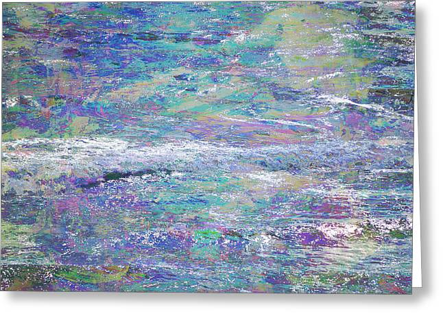 Interior Scene Mixed Media Greeting Cards - Sea Expressions Greeting Card by John Fish