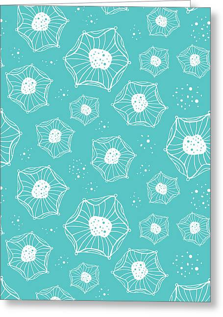 Bold Style Greeting Cards - Sea Flower Greeting Card by Susan Claire