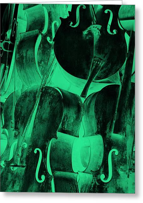 Foam Sculpture Greeting Cards - Sea Foam Cellos Greeting Card by Rob Hans