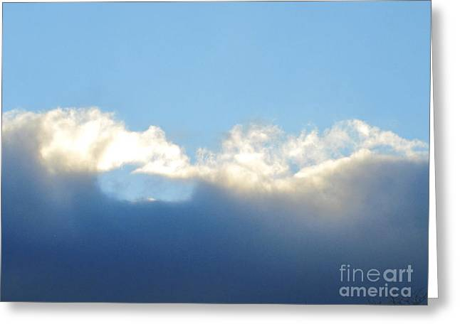 Grey Clouds Drawings Greeting Cards - Sea Foam Clouds 2 Greeting Card by Tara  Shalton