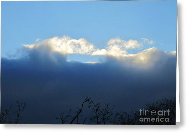 Layers Greeting Cards - Sea Foam Clouds 4 Greeting Card by Tara  Shalton