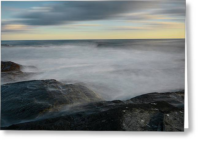 New England Ocean Greeting Cards - Sea Foam Greeting Card by Lourry Legarde