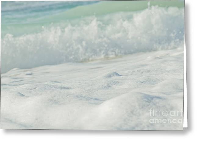Surface Tension Greeting Cards - Sea Foam - Ocean Medley Greeting Card by Sharon Mau