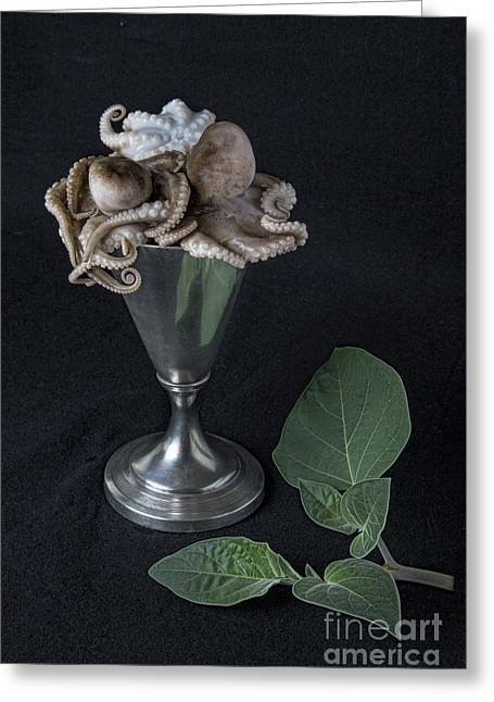 Menu Greeting Cards - Sea Food Cocktail Greeting Card by Elena Nosyreva