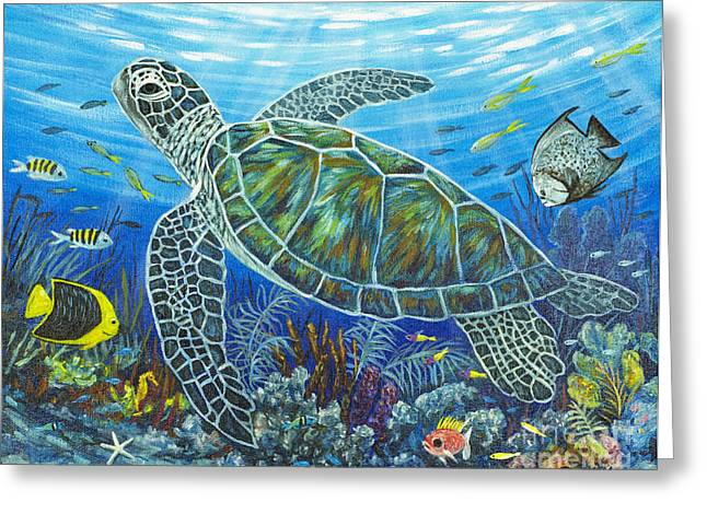 Florida Reefs Greeting Cards - Sea Friends Greeting Card by Danielle  Perry