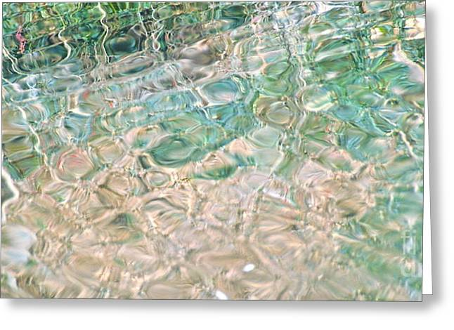 Recently Sold -  - Beige Abstract Greeting Cards - Sea Glass Greeting Card by Cindy Lee Longhini