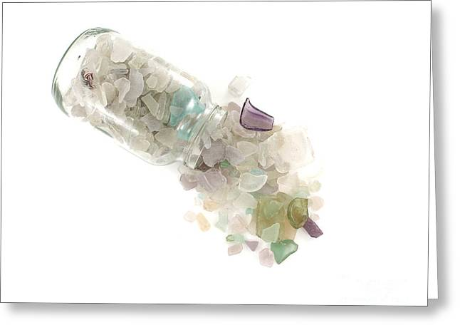 Olive Green Greeting Cards - Sea Glass Cornucopia Greeting Card by Jennifer Booher