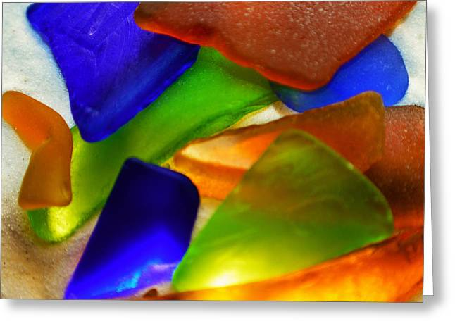 Sea Glass II Greeting Card by Sherry Allen