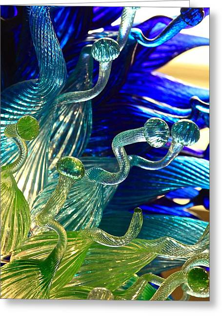Art Blown Glass Greeting Cards - Sea Glass Greeting Card by Karon Melillo DeVega