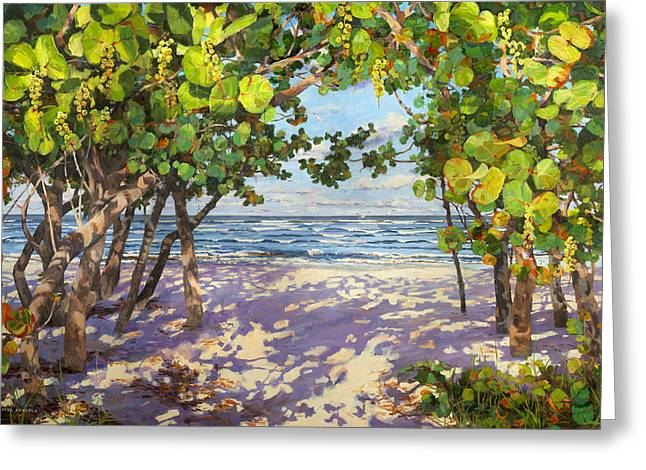 Sea Grape Delight Greeting Card by Carol McArdle