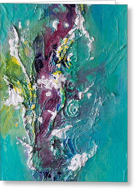 Kat Mixed Media Greeting Cards - Sea Life1 Mixed Media Greeting Card by Kat Ebert