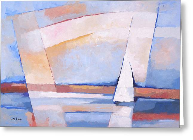 Abstract Seascape Art Greeting Cards - Sea Light Greeting Card by Lutz Baar