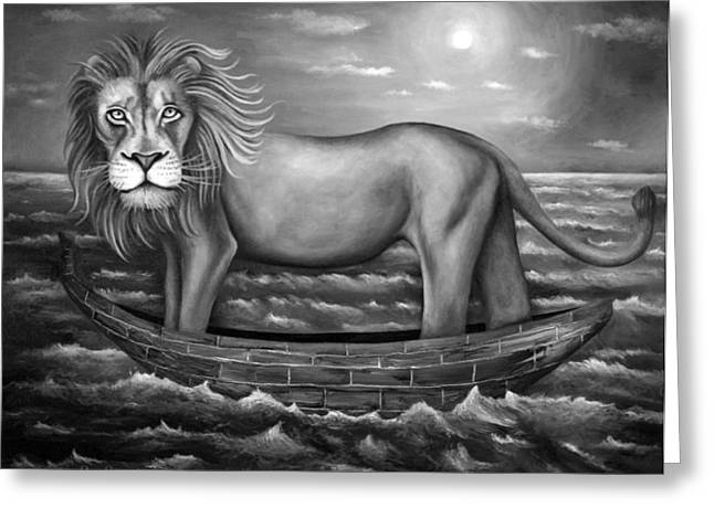 Sea Lion in bw Greeting Card by Leah Saulnier The Painting Maniac