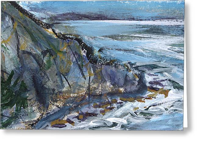 California Sea Lions Paintings Greeting Cards - Sea Lion Rookery Big Sur Greeting Card by David  Seacord