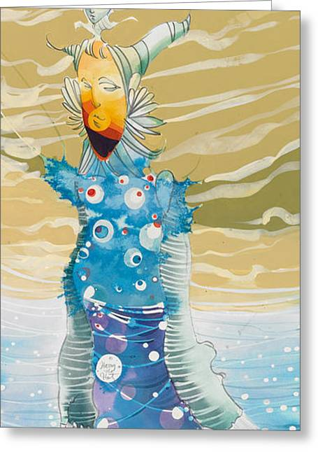 Surfer Art Greeting Cards - Sea Man Greeting Card by Harry Holiday