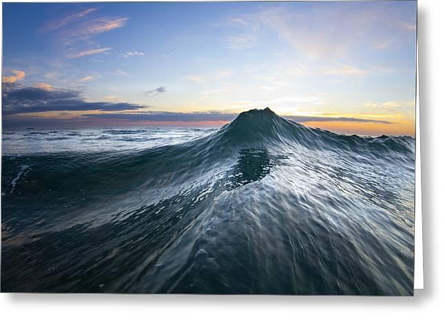 Sea Mountain Greeting Card by Sean Davey