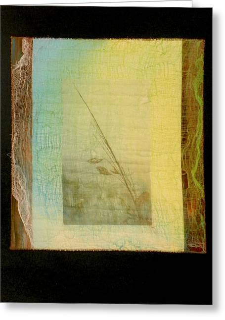 Sea Oats Mixed Media Greeting Cards - Sea Oat Greeting Card by Jenny Williams