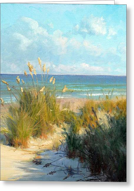 Sea Oats Greeting Cards - Sea Oats Greeting Card by Armand Cabrera