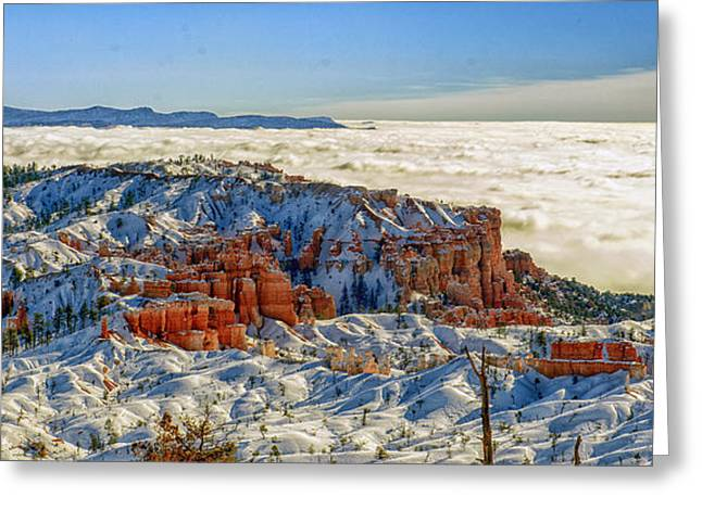 Multihued Greeting Cards - Sea of Clouds Greeting Card by Bhanu Mohan