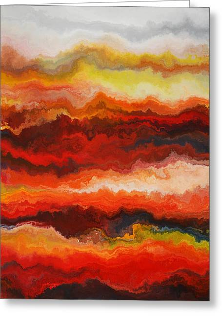 Sea Of Fire  Greeting Card by Andrada Anghel