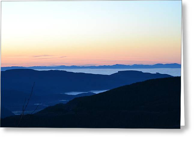 Temperature Inversion Greeting Cards - Sea of fog Greeting Card by Nancy Herring