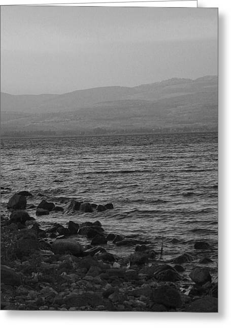 Gospel Of Matthew Greeting Cards - Sea of Galilee Greeting Card by Sandra Pena de Ortiz