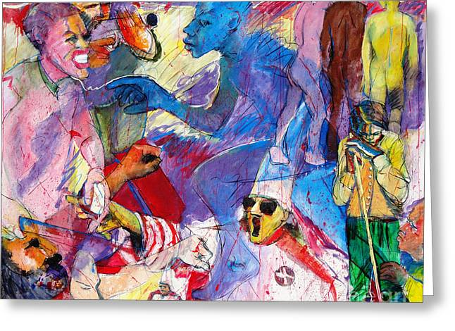Problem Paintings Greeting Cards - Sea of Hate Greeting Card by Charles M Williams