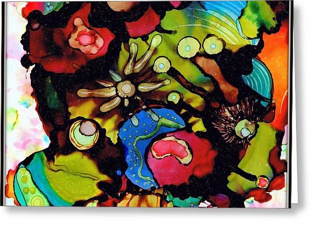 Dotted Shells Greeting Cards - Sea Of Knowledge.. Greeting Card by Jolanta Anna Karolska
