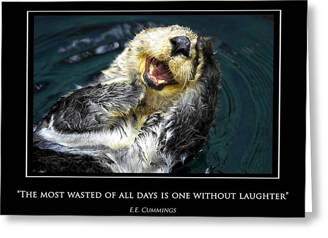 Sea otter motivational  Greeting Card by Fabrizio Troiani