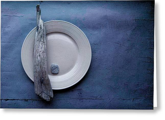 """textured Photography"" Greeting Cards - Sea Plate - s04b03bb Greeting Card by Variance Collections"