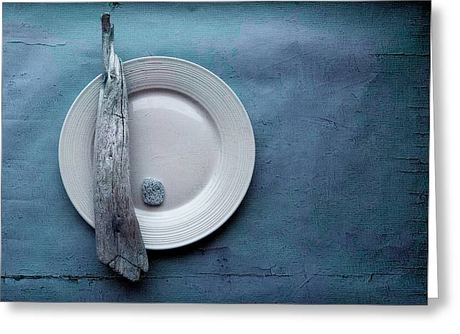 """textured Photography"" Greeting Cards - Sea Plate - s04b03dcr Greeting Card by Variance Collections"