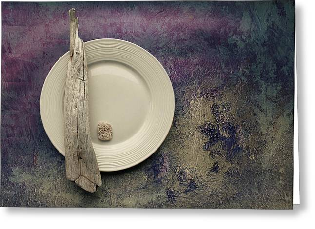 Violet Art Greeting Cards - Sea Plate - s22v2b3 Greeting Card by Variance Collections