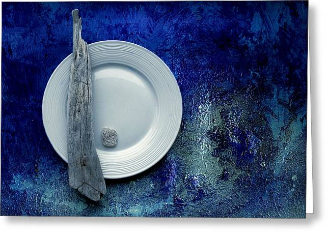 """textured Photography"" Greeting Cards - Sea Plate - s22v5bpp Greeting Card by Variance Collections"