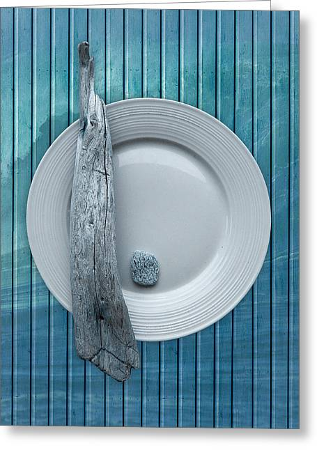 Sea Wall Greeting Cards - Sea Plate - s31zprc02 Greeting Card by Variance Collections