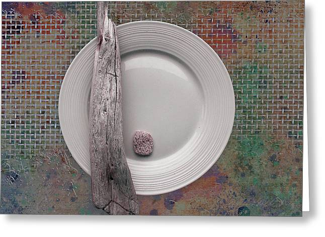 Rock Texture Greeting Cards - Sea Plate - s32e Greeting Card by Variance Collections