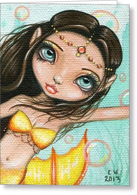 Mermaid Fantasy Art Greeting Cards - Sea Princess Marisol Greeting Card by Elaina  Wagner