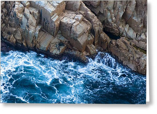 Rocky Shorelines Greeting Cards - Sea Rocks Greeting Card by Frank Tschakert