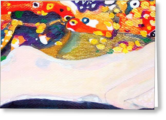 Female Body Greeting Cards - sea serpent III after Gustav Klimt Greeting Card by Anna Porter
