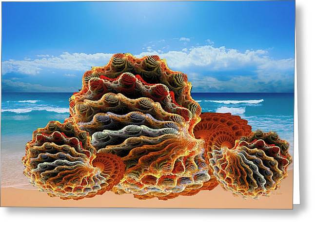 Sea Life Digital Greeting Cards - Sea Shell Fantasy Greeting Card by Mountain Dreams
