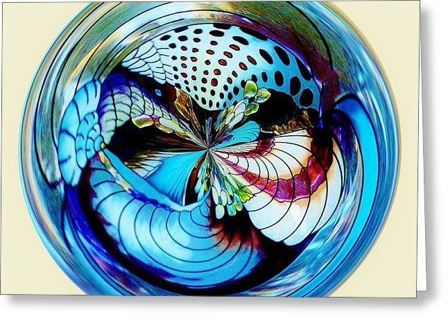 Sea Shell Orb Greeting Card by Paulette Thomas