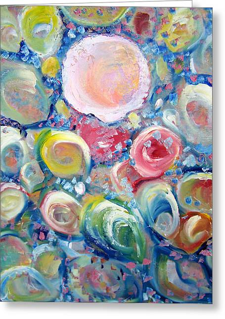 Sea Shells Greeting Card by Patricia Taylor